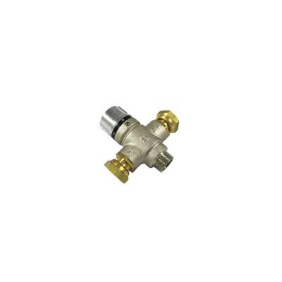 Valvola di miscelazione termostatica 3/4 MF dadi girevoli