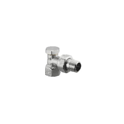 angle radiator valves with presetting and isolating Combi 2 DN 15 (X 25) - OVENTROP : 1091062