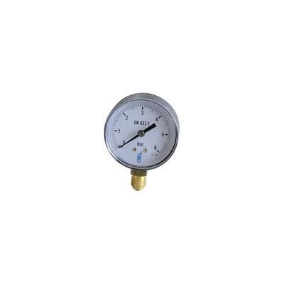 Water & air pressure gauge 0/6 bar ø63mm