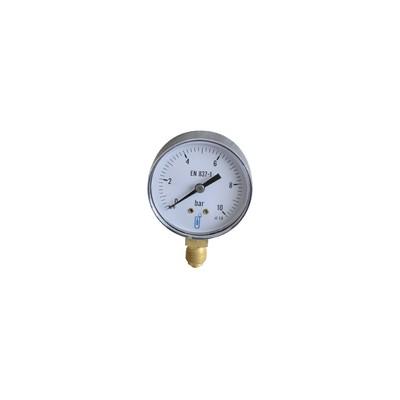 Pressure gauge 0 to 10 bar ø63mm