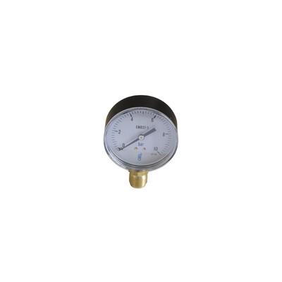 Druckmesser 0/10 bar Durchmesser 80mm
