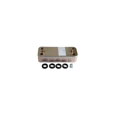 Domestic heat exchanger 16 plates - DIFF for Chaffoteaux : 65104333
