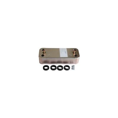 Intercambiador sanitario 16 placas - DIFF para Chaffoteaux : 65104333