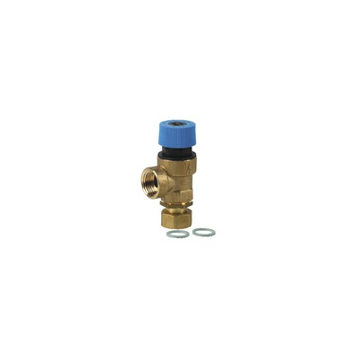 Safety valve 7bar - F1/2 x F1/2 - DIFF for Unical : 03311W