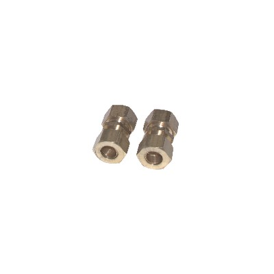 Fitting olive straight tube 14mm x tube 14mm  (X 2)