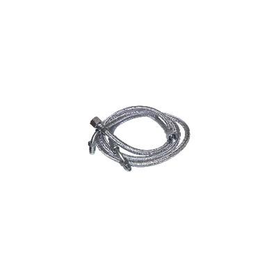 """Flexible fioul 3/8"""" x 1/4 bague coudé 90° 900mm (X 2) - FRANCO BELGE : 183005"""