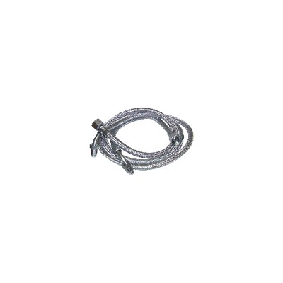 "Flexible gasóleo H3/8"" x M1/4 codo 90° lg 900mm  (X 2) - FRANCO BELGE : 183005"