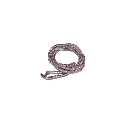 """Flessibile gasolio F3/8"""" x F12/100 ad anello su gomito 45°  (X 2) - WEISHAUPT : 491046"""