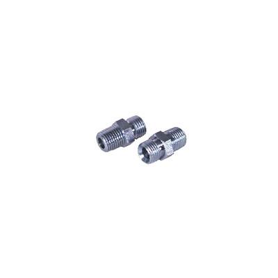 Nipple fuel m1/2 conical x m1/4  (X 2)