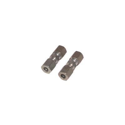 Racor de compresión recto tubo 5mm x tubo 5mm  (X 2)