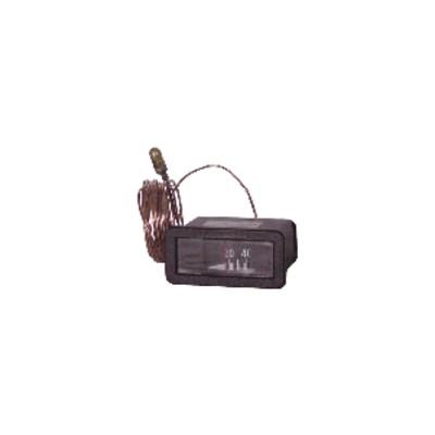 Rechteckiges Thermometer 20° bis +120°C - L 64mm x H 31mm Kapillar 3000