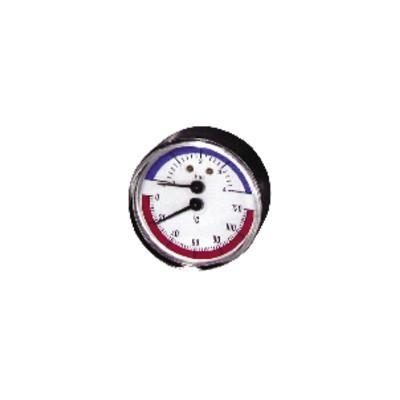 Runder Druckmesser 0 bis 120°C - 0 bis 4 bar Durchmesser 63mm