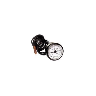 Termómetro redondo 0° a +120°C Ø43mm cap 1500vaina