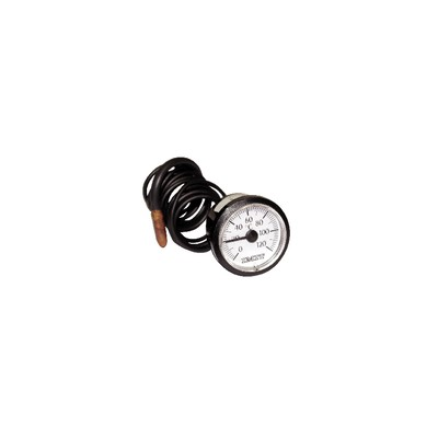 Thermomete r round dial 0° +120°c ø43mm cap1500