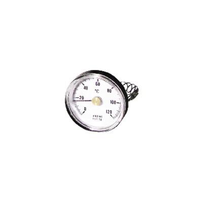 Rundes Thermometer mit Befestigung 0 bis 120°C Durchmesser 63mm