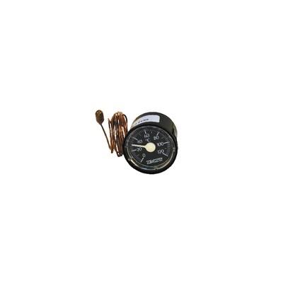 Rundes Thermometer 0° bis +120°C Durchmesser 43mm Kapillar 1000