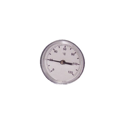 Runder axialer Tauchthermometer 0 bis 120°C Durchmesser 63mm