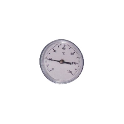 Dial thermometer axial plunger 0 120°c ø80mm 50