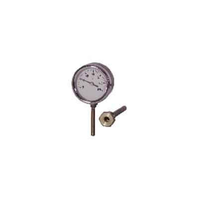 Runder radialer Tauchthermometer 0 bis 120°C Durchmesser 80mm Tauchtiefe 40