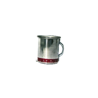 Flow control flow measuring cup  0to 17l/mn