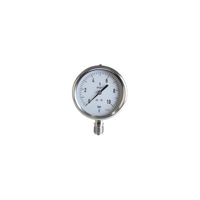 Dampf Druckmesser  0/10 bar Durchmesser 100mm