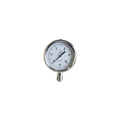 Steam pressure gauge 0/10 bar ø 100mm