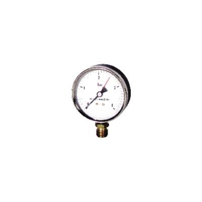 "Water steam manometer  0 4 bars ø80mm m3/8"""