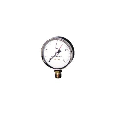 """Runder Druckmesser 0 bis 4 bar Durchmesser 100mm M1/2"""""""