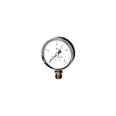 "Water steam manometer  0 4 bars ø100mm m1/2"""