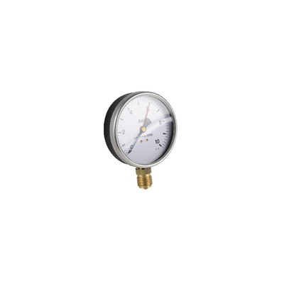 "Water steam manometer  0 10 bars ø100mm m1/2"""