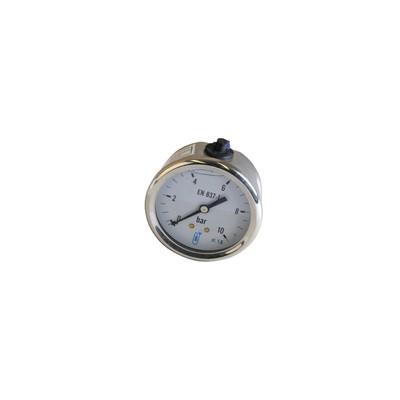 Manometro assiale glicerina 0-10 bar Ø 63mm