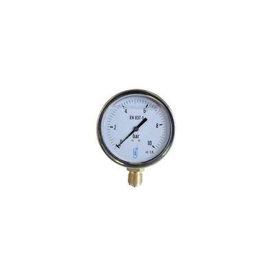 Manómetro axial glicerina 0-10 bar Ø 100mm