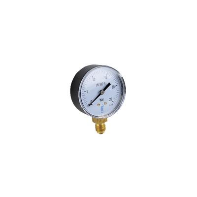 """Runder Druckmesser 0 bis 25 bar Durchmesser 63mm M1/4"""" Standard Gehäuse"""