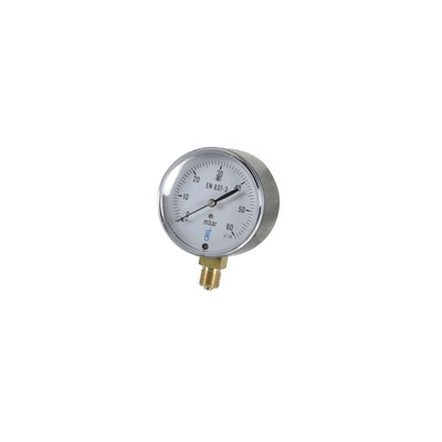 """Gas manometer 0 to 60bars ø 63mm m1/4""""- with dial"""