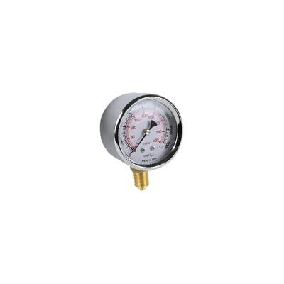 """Runder Druckmesser 0 bis 400 mbar Durchmesser 63mm M1/4"""""""