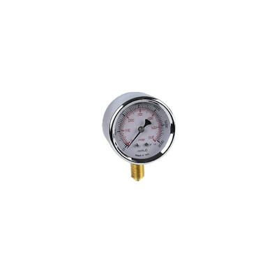 "Gas manometer 0 to 600bars ø 63mm m1/4"""