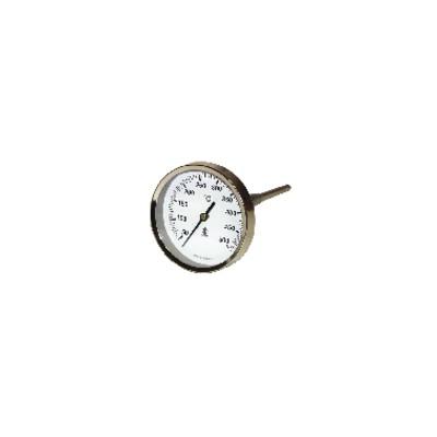 Thermomètre rond de fumée 50 à 500°C