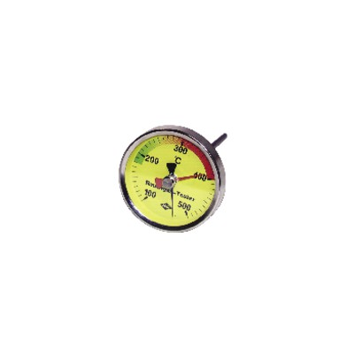 Round smoke thermometer 100 to 500°c ø 80mm