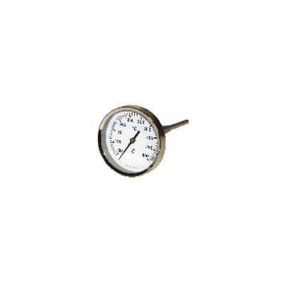 Round smoke thermometer 50 to 500°c ø80mm probe 30