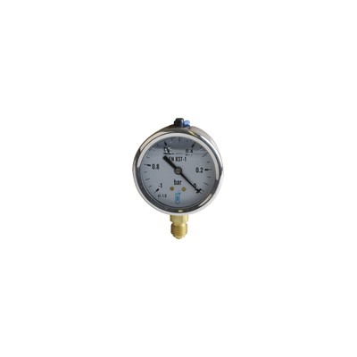 Vacuum gauge round dial -1 0 bars ø63mm m1/4""
