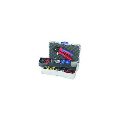 Juego de engastadores para extremos de cables - KNIPEX - WERK : 97 90 09