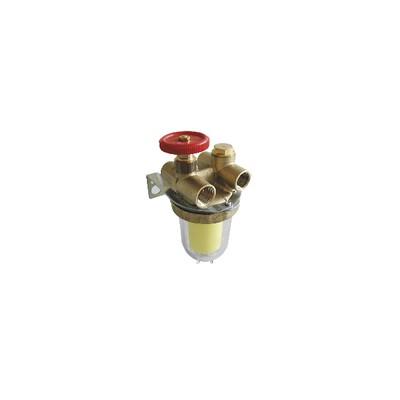 Filtre fioul 2 conduites à robinet d'arrêt - OVENTROP : 2120261+2127500