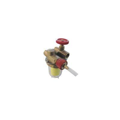 """Filtro gasolio con ricircolo con valvola di arresto FF3/8""""    - OVENTROP : 2122261+2127600"""