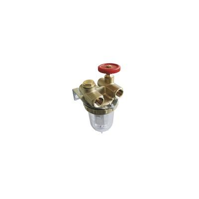 """OVENTROP Zwei Leitungen mit Absperrhahn IG3/8"""" mit Anschluss  - OVENTROP: 2120103"""