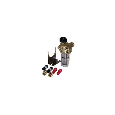 Filtre fioul 2 conduites avec robinet FF3/8'' RV - WATTS INDUSTRIES : 22L0133100