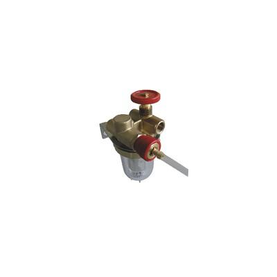 """Filtro gasolio con ricircolo con valvola d'arresto FF3/8"""" - OVENTROP : 2122103+2127600"""