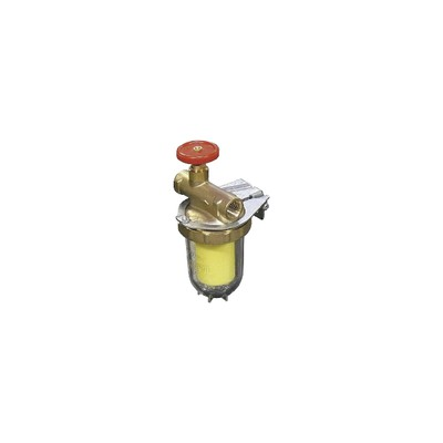Heating oil filter for one pipe systems - OVENTROP : 2123261+2127700
