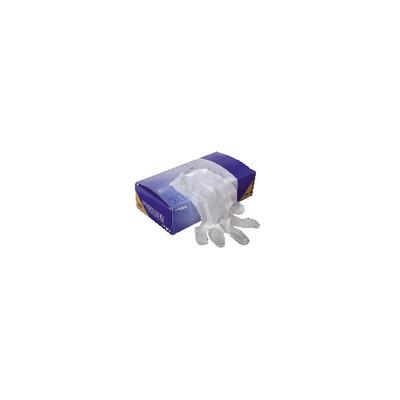 Gant jetable en vinyle (T8/9 - L) (X 100)