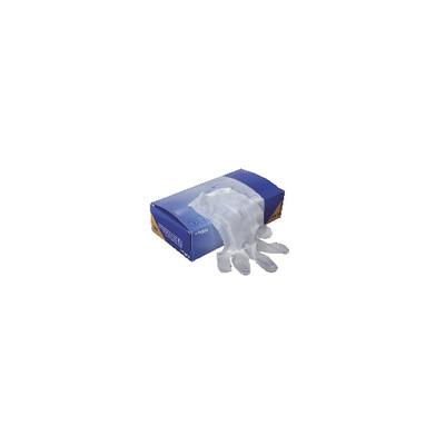 Gant jetable en vinyle (T7/8 - M) (X 100)