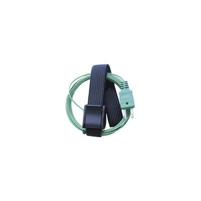 Sonda contacto con velcro termopar tipo K-50ºC  145ºC - GALAXAIR : K-VEL